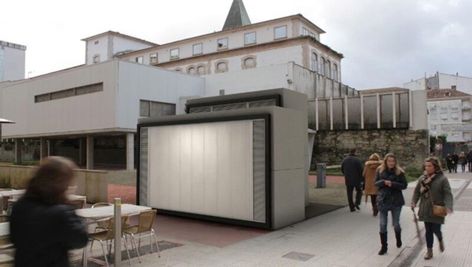 Prototipo de equipamiento urbano mediante marcos prefabricados de hormigón